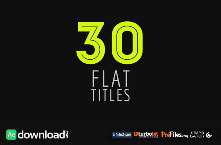 30 Flat Titles videohive