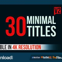 30 MINIMAL TITLES V2 (VIDEOHIVE PROJECT) – FREE DOWNLOAD