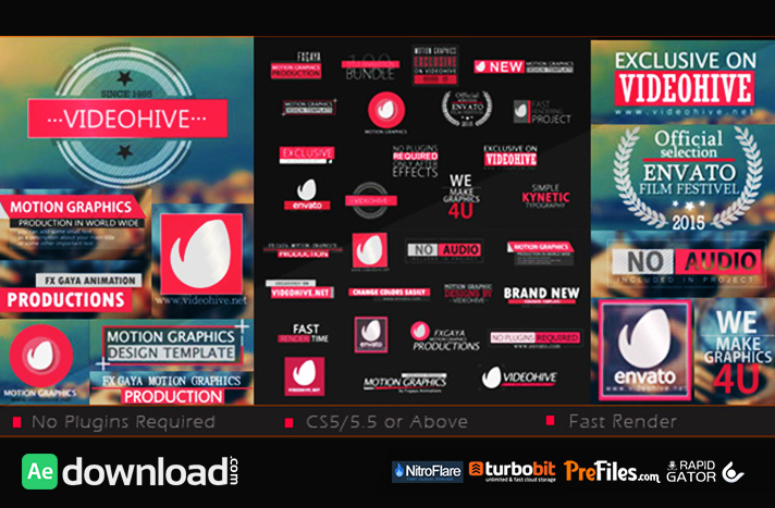 30 title bundle videohive project free download free for Free after effects title templates