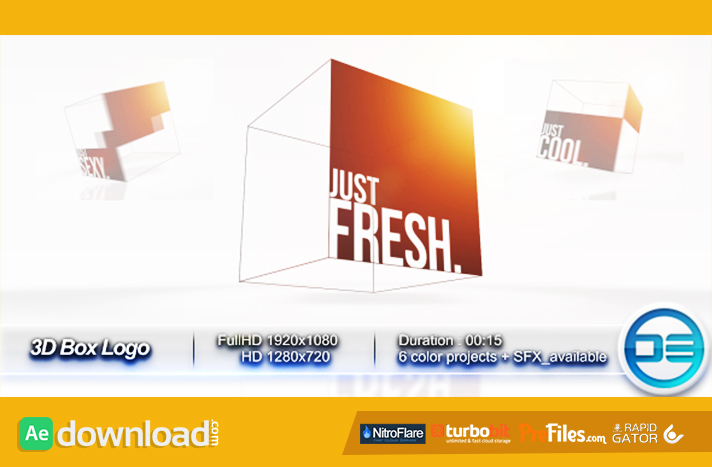 3D Box Logo Free Download After Effects Templates