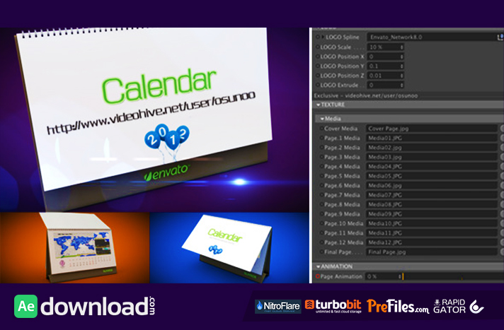 3D CALENDAR PRESET (VIDEOHIVE PROJECT) - FREE DOWNLOAD - Free After