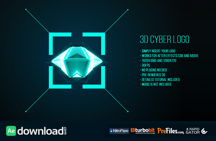 3d cyber logo videohive free download free after for Free after effects logo templates