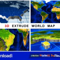 3D EXTRUDE WORLD MAP (VIDEOHIVE PROJECT) – FREE DOWNLOAD
