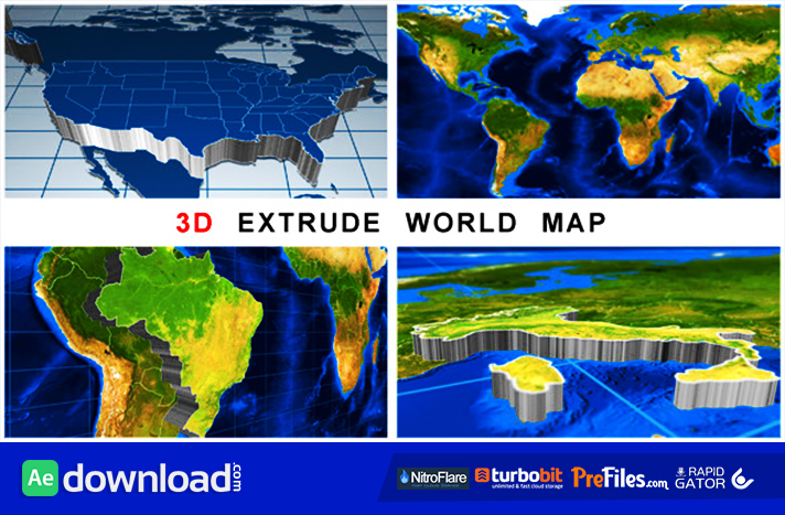 3d extrude world map videohive project free download free 3d extrude world map free download after effects templates gumiabroncs Images