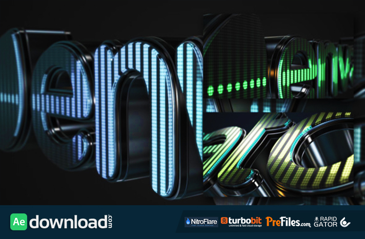 3D LED Logo Equalizer Free Download After Effects Templates