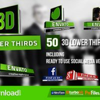 3D LOWER THIRDS (50 ITEMS) (VIDEOHIVE PROJECT) – FREE DOWNLOAD
