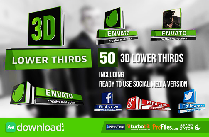 3d Lower Thirds 50 Items Videohive Project Free Download