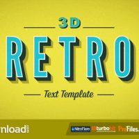 3D RETRO KINETIC TYPOGRAPHY (VIDEOHIVE PROJECT) – FREE DOWNLOAD