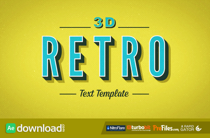 3d retro kinetic typography videohive project free for Aep templates free download