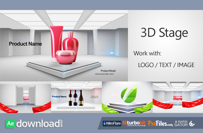 3D Stage 3D Promo Free Download After Effects Templates