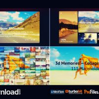 3D MEMORIES – COLLAGE SLIDESHOW (VIDEOHIVE) – FREE DOWNLOAD