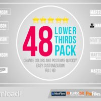 VIDEOHIVE 48 LOWER THIRDS PACK- FREE DOWNLOAD