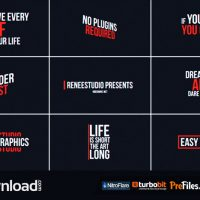 50 ANIMATED TITLES (VIDEOHIVE) – FREE DOWNLOAD