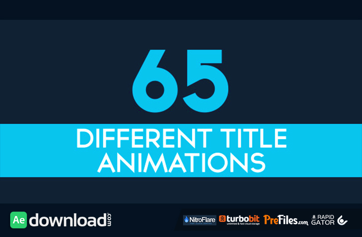 65 Minimal Title Animations Free Download After Effects Templates