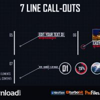7 LINE CALL-OUTS – (VIDEOHIVE TEMPLATE) – FREE DOWNLOAD