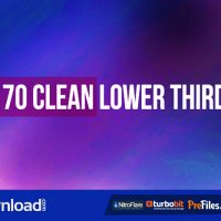 70 CLEAN LOWER THIRD (VIDEOHIVE PROJECT) – FREE DOWNLOAD