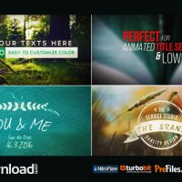 70 TITLE ANIMATION PACK (VIDEOHIVE PROJECT) – FREE DOWNLOAD