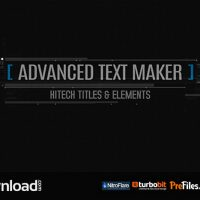 ADVANCED TEXT MAKER (VIDEOHIVE PROJECT) – FREE DOWNLOAD