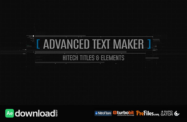 Advanced Text Maker Free Download After Effects Templates