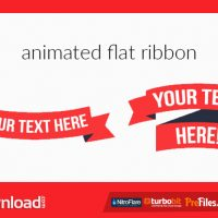 ANIMATED FLAT RIBBON (VIDEOHIVE) – FREE DOWNLOAD