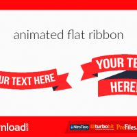 ANIMATED FLAT RIBBON – (VIDEOHIVE TEMPLATE) – FREE DOWNLOAD