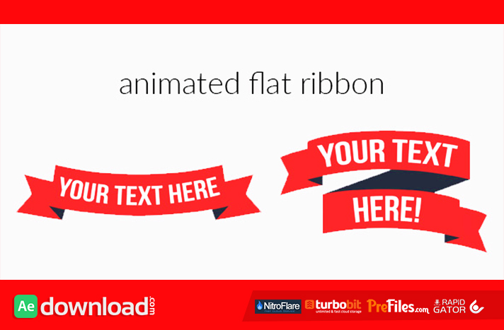 Animated Flat Ribbon Free Download After Effects Templates