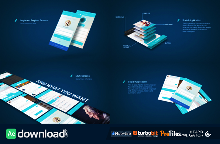 app presentation mockup kit videohive  free download  free, Templates