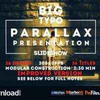BIG TYPO PARALLAX PRESENTATION (VIDEOHIVE PROJECT) – FREE DOWNLOAD