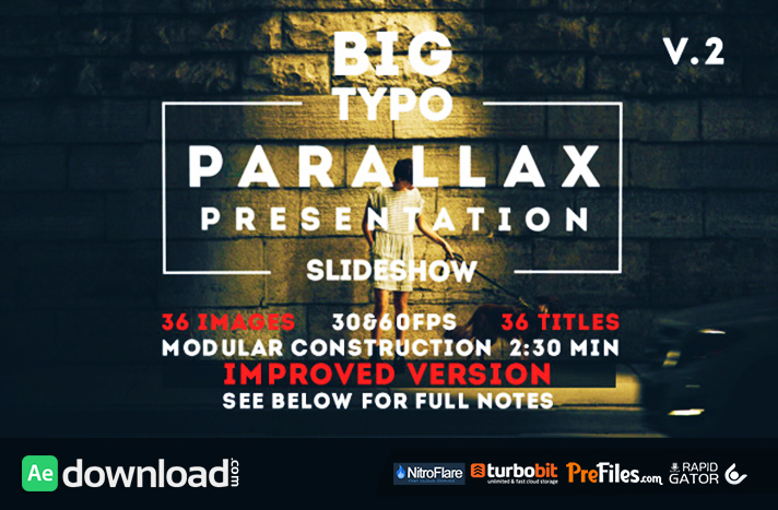Big Typo Parallax Presentation Free Download After Effects Templates