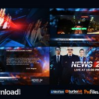 BROADCAST DESIGN – NEWS 24 PACKAGE (VIDEOHIVE) – FREE DOWNLOAD