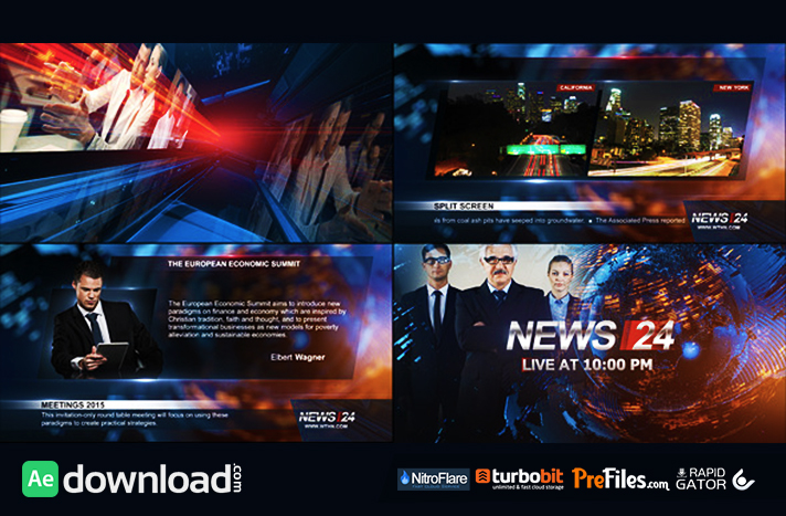 BROADCAST DESIGN - NEWS 24 PACKAGE (VIDEOHIVE) - FREE