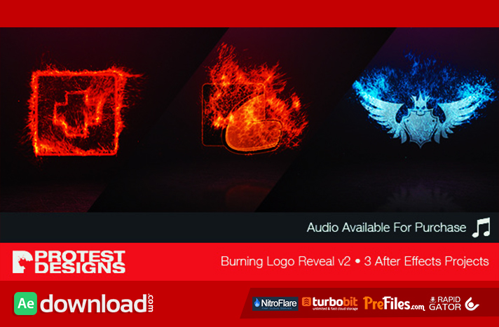BURNING LOGO REVEAL V VIDEOHIVE FREE DOWNLOAD Free After - Buy after effects templates