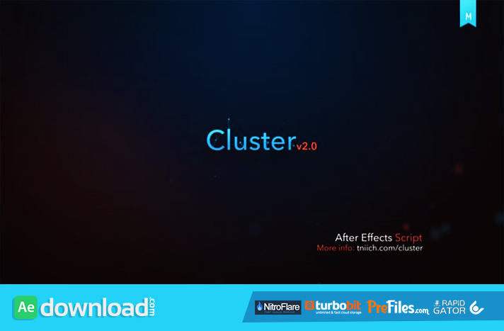 cluster v2 0 aescript free download free after effects template videohive projects. Black Bedroom Furniture Sets. Home Design Ideas