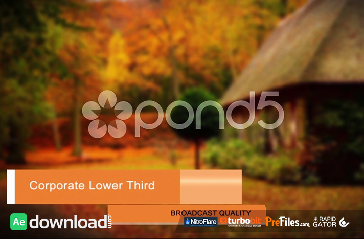 CORPORATE LOWER THIRD PACK Free Download After Effects Templates