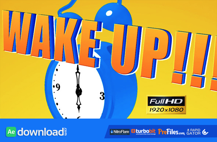Cartoon Alarm Clock Free Download After Effects Templates