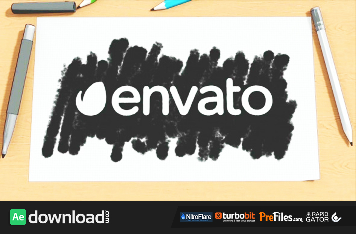 Cartoon Sketch Logo Reveal Free Download After Effects Templates