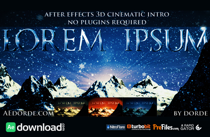 Cinematic Opener - Lorem Ipsum Free Download After Effects Templates