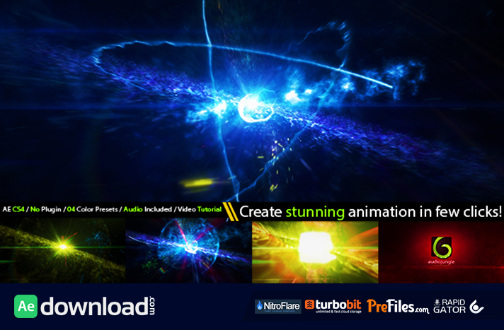 Cinematic space particles explosion logo intro videohive for After effects cs4 intro templates free download