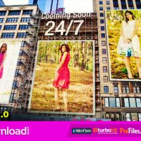 CITY – ADS ON BUILDINGS  – (VIDEOHIVE TEMPLATE) – FREE DOWNLOAD