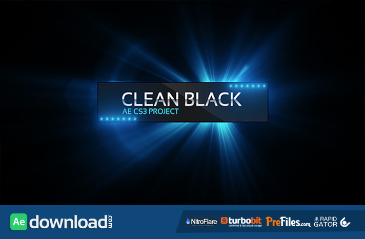 Clean Black Presentation Free Download After Effects Templates