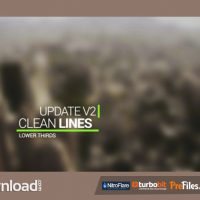 CLEAN LINES LOWER THIRD – (VIDEOHIVE TEMPLATE) – FREE DOWNLOAD