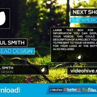 CLEAN LOWER THIRDS 10884029 (VIDEOHIVE TEMPLATE) FREE DOWNLOAD