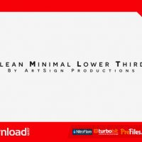 CLEAN MINIMAL LOWER THIRDS (VIDEOHIVE PROJECT) – FREE DOWNLOAD