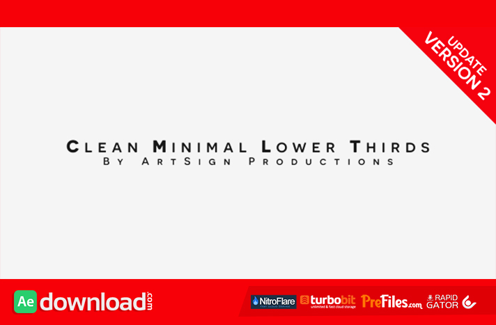 Clean Minimal Lower Thirds Free Download After Effects Templates