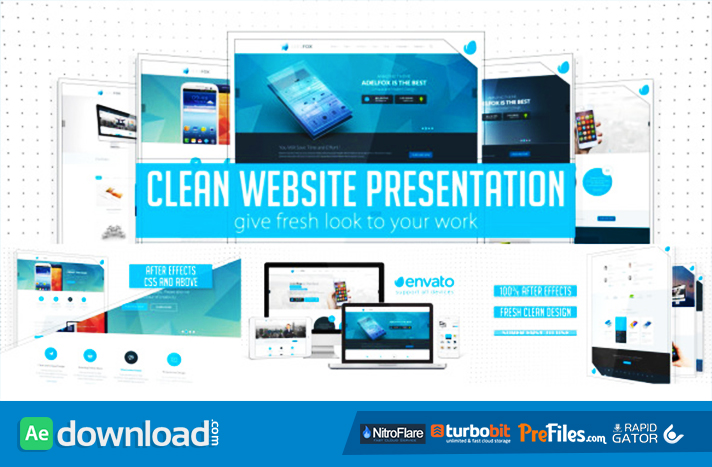 clean website presentation 2 in 1 videohive project free