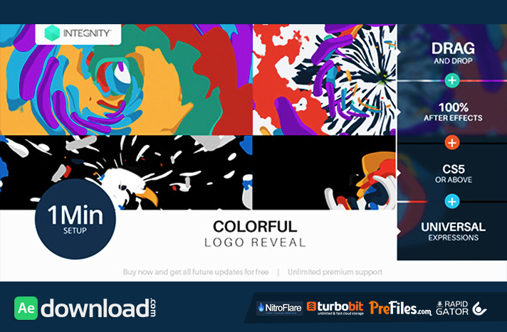 Colorful Logo Reveal Free Download After Effects Templates