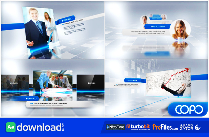 complete corporate presentation video  videohive template, Templates