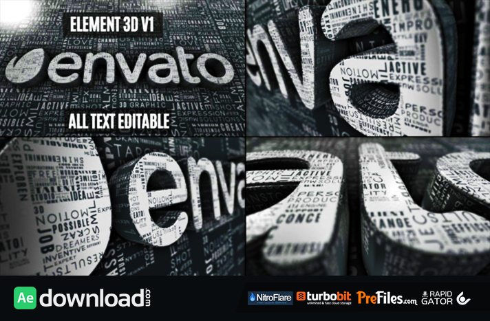 CREATIVE WORDS LOGO REVEAL (VIDEOHIVE PROJECT) - FREE