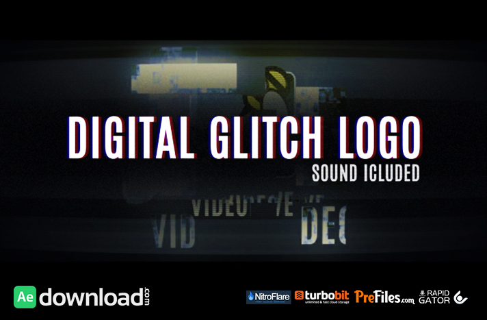 Digital Glitch Logo Free Download After Effects Templates