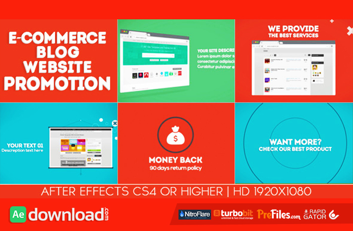 E-commerce Blog Website PromotionFree Download After Effects Templates